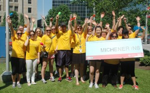 Michener staff at Big Bike Fundraiser Event