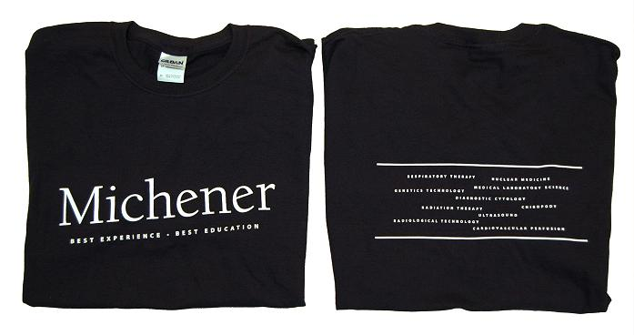 Michener Black T-Shirt (Best Experience, Best Education)