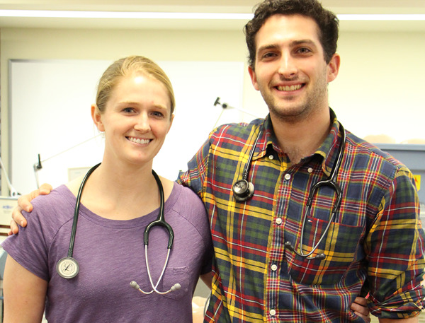 Second year Respiratory Therapy students Keara Maguire and Phllip Bailie