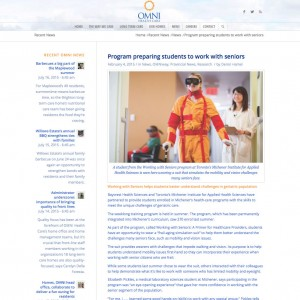 OMNI Health Care Working with Seniors Feature Article Thumbnail