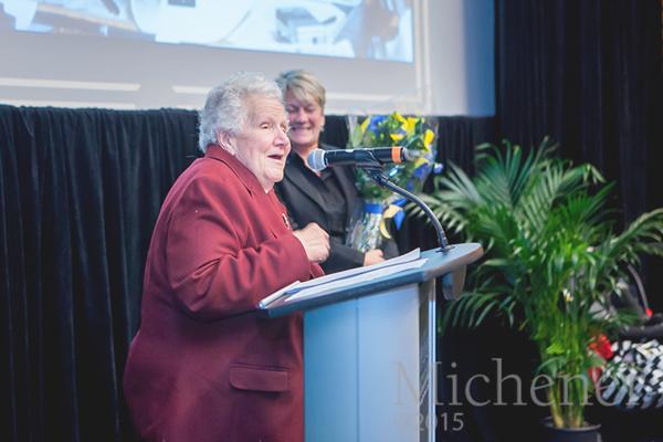 Michener's founder Dr. Diana Michener Schatz with Michener's President & CEO Maureen Adamson