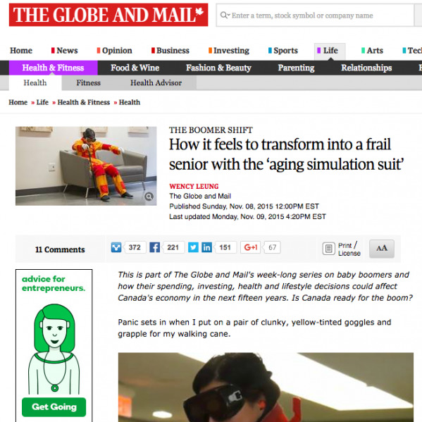 decorative image-screen shot of the globe and mail