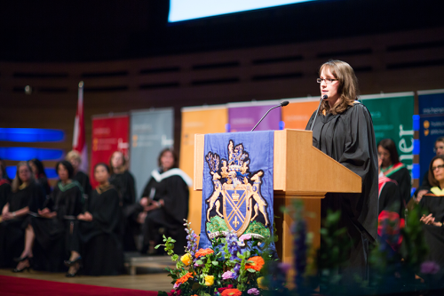 Eryl Fraser is this year's valedictorian from the Michener Institute of Education at UHN.