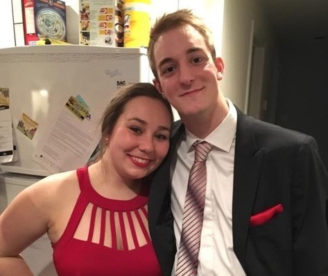 Six months after surgery, Jonathan Power with his girlfriend, Kaitlyn. (Photo: Courtesy Monique Barbeau)