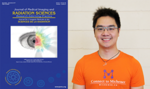 Cover of the December issue of JMIRS with Radiation Therapy student Eugene Leung