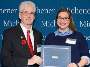 Student Awards 2018 - Laura Kielek-Caster (Right) and Dr. Peter Bridge(Left)