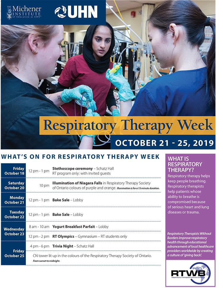 Respiratory Therapy Week Calendar