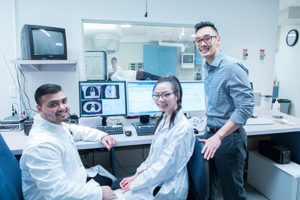 Students in radiation therapy program lab