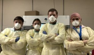Team of medical laboratory technologists at Shared Hospital Lab