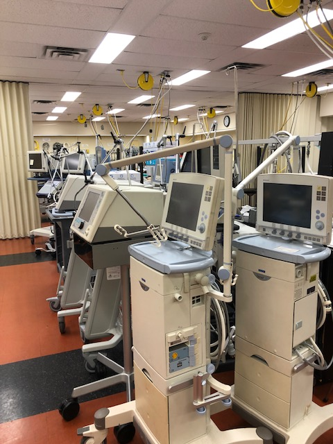 Ventilators at The Michener Institute