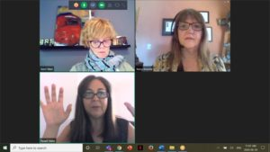 Michener staff on video conferencing call