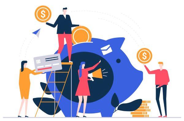 Cartoon depicting financial aid