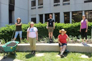 The group got together to plant the Indigenous Healing Garden