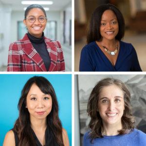 Headshots of Dr. Nikki Woods, Dr. Stella Ng, Dr. Claudia Barned and Dr. Maya Goldenberg